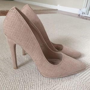 Qupid Nude Pointed Toe Classic Heels